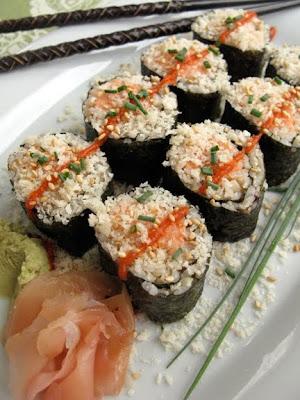 Spicy Crunchy Salmon Rolls