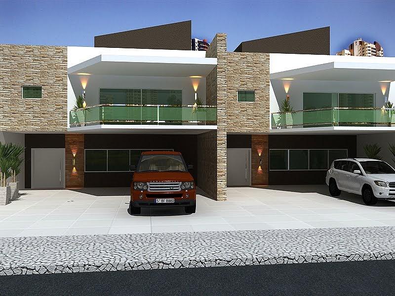 3dsign fachada casas geminadas for Modelos de fachadas modernas