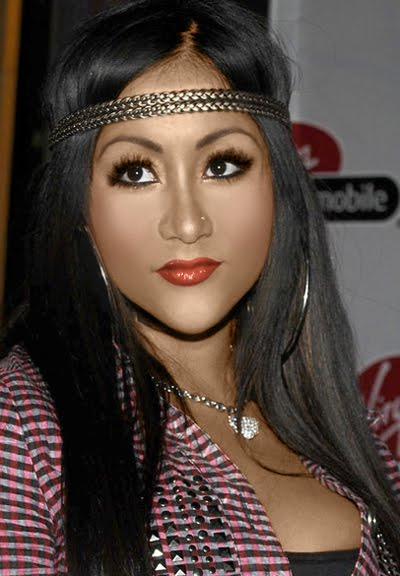 i hate your face quotmy bronzer�s leaking off my facequot snooki
