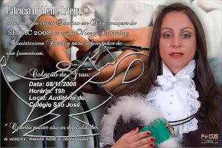 Convite 13x18cm Tec  Enfermagem SENAC