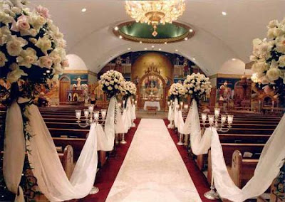 CHURCH WEDDING DECORATION