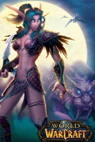 warcraft historia do mundo Night-Elf-and-Pet-WoW1