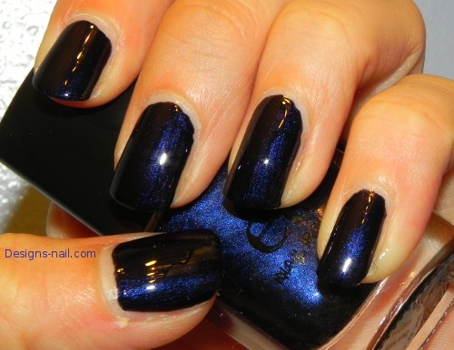 E.L.F. Dark Navy Nail Polish|A Beauty & Nail Art Blog