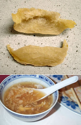 Bird's nest soup, eaten in China