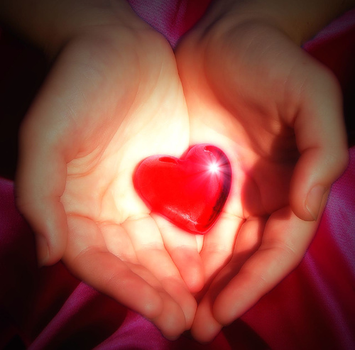 love heart with hands. Children love to be told how proud
