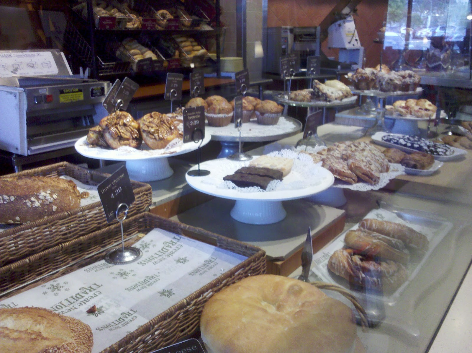 ... when you first walk in. Fresh baked bread and pastries. Yes, please