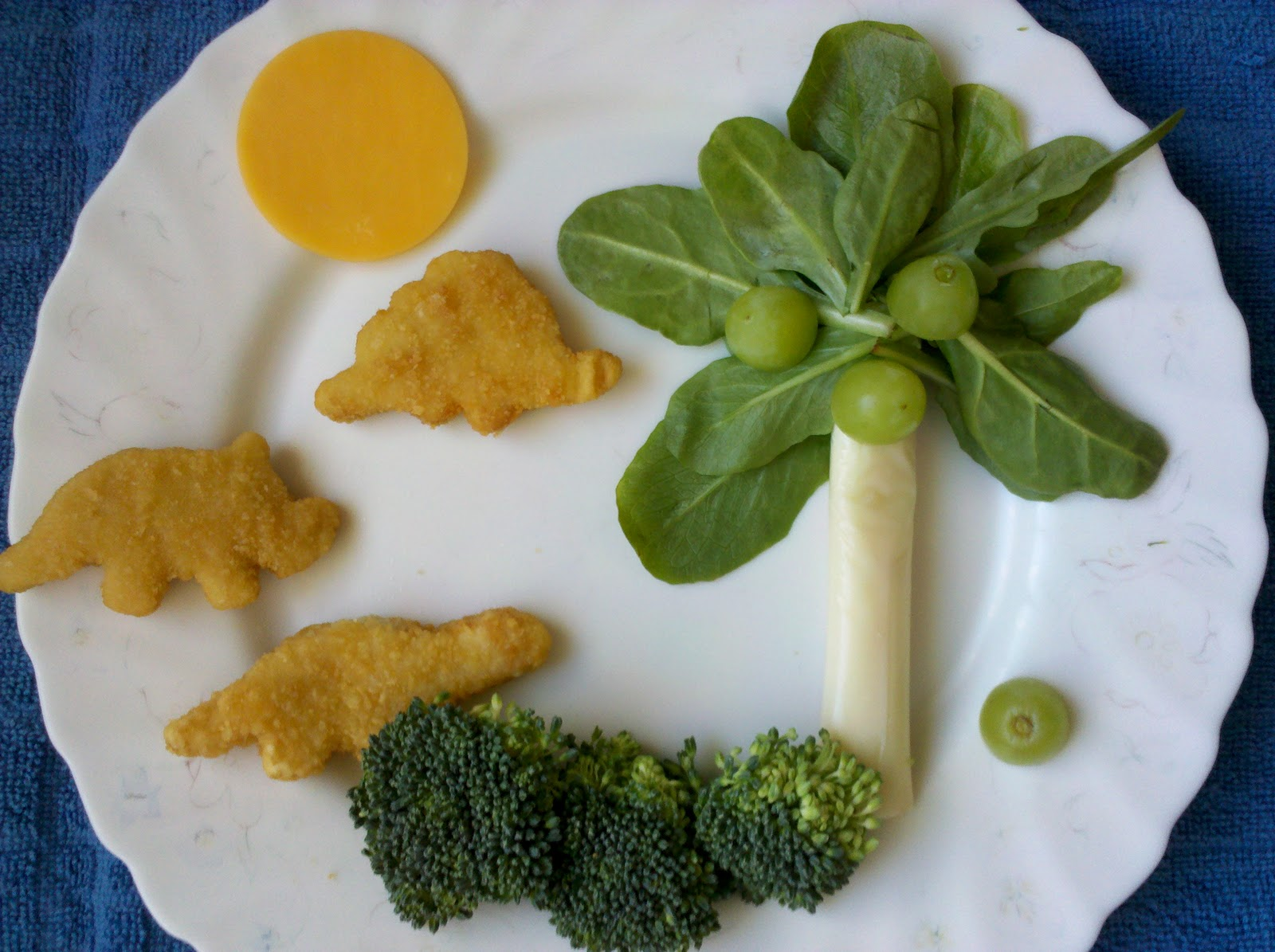 Be Brave, Keep Going: Dinosaur Chicken Nugget Foodscape ...
