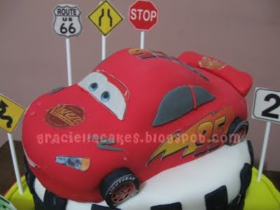 pics of lightning mcqueen cakes. The Cars - Lightning McQueen
