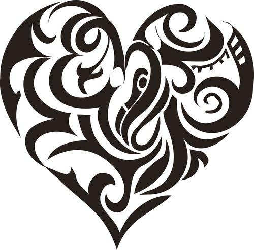 love heart tattoos for men. love heart tattoos designs.