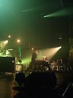 Keane plus sound engineers onstage