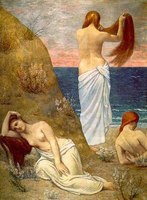 Mujeres a orillas del mar, Puvis de Chavannes,  Mónica López Bordón, poesía, editorial Playa de Ákaba