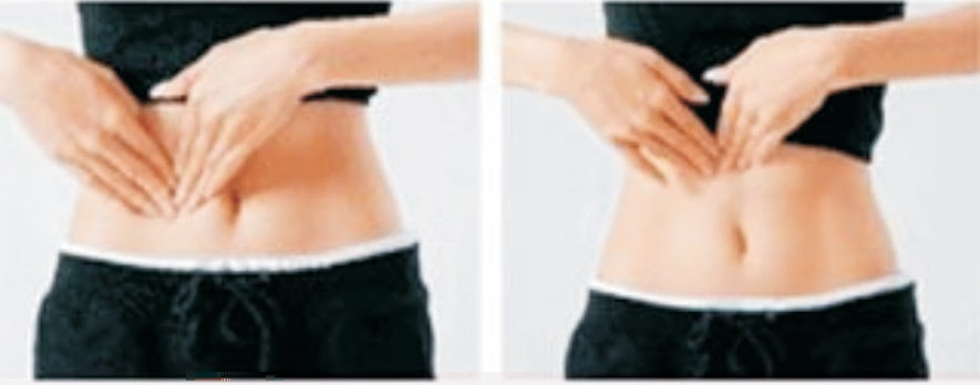 how to lose pouch under belly button