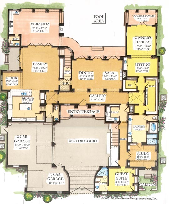 Luxury Home Floor Plans In Castle Designs – Archival Designs