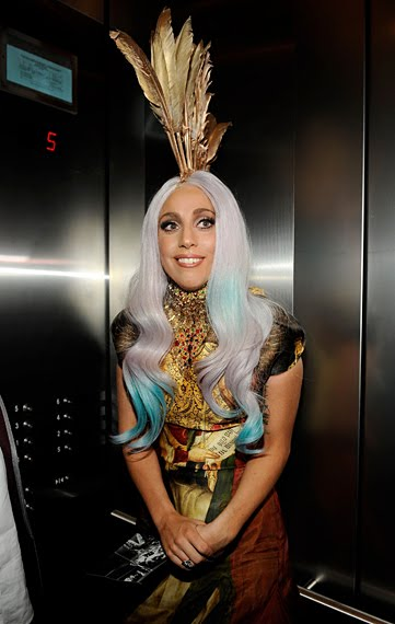 lady gaga january 2011. pictures Lady Gaga wore a meat