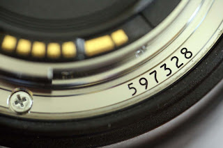 Serial number on the bayonet of the EF24-105mm f/4 L IS USM lens