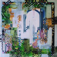 Dans le temple de verdure - 50 x 50 cm - 2010