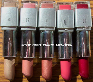 wnw wet'n'wild mega color lipsticks