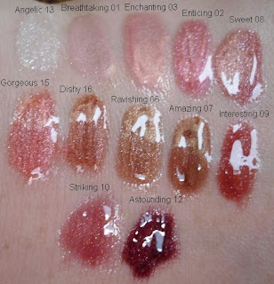 Stila IT Gloss Swatches