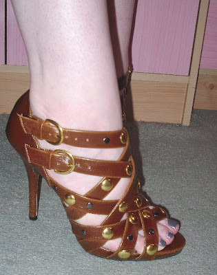 primark brown studded sandals