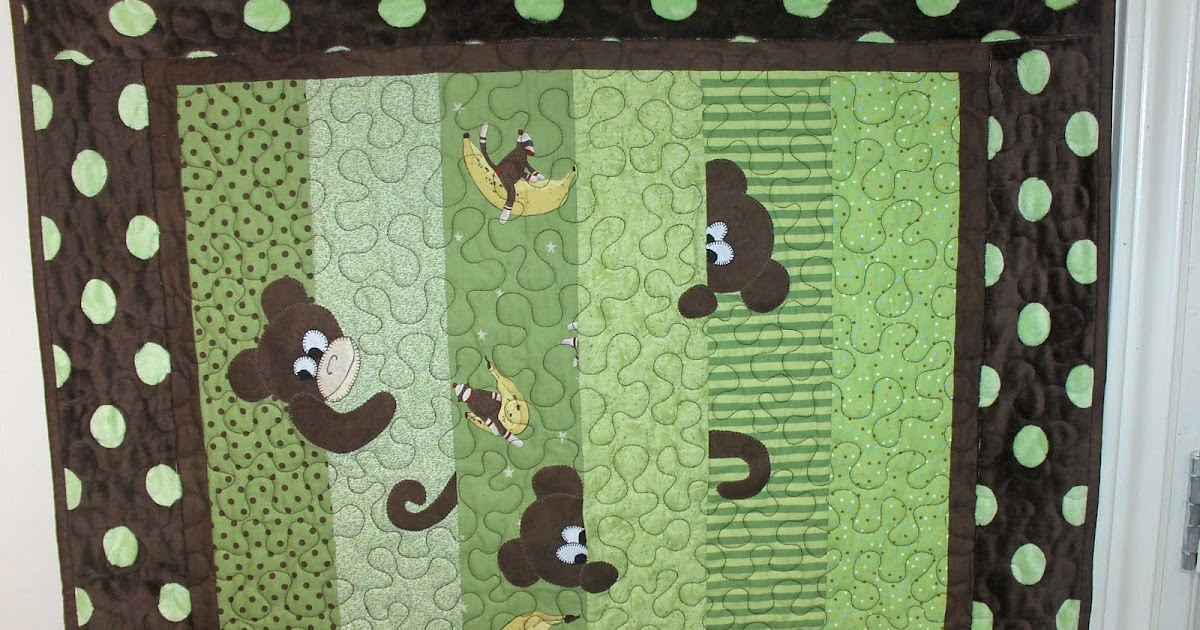 Quilting Peek A Boo Monkey Quilt