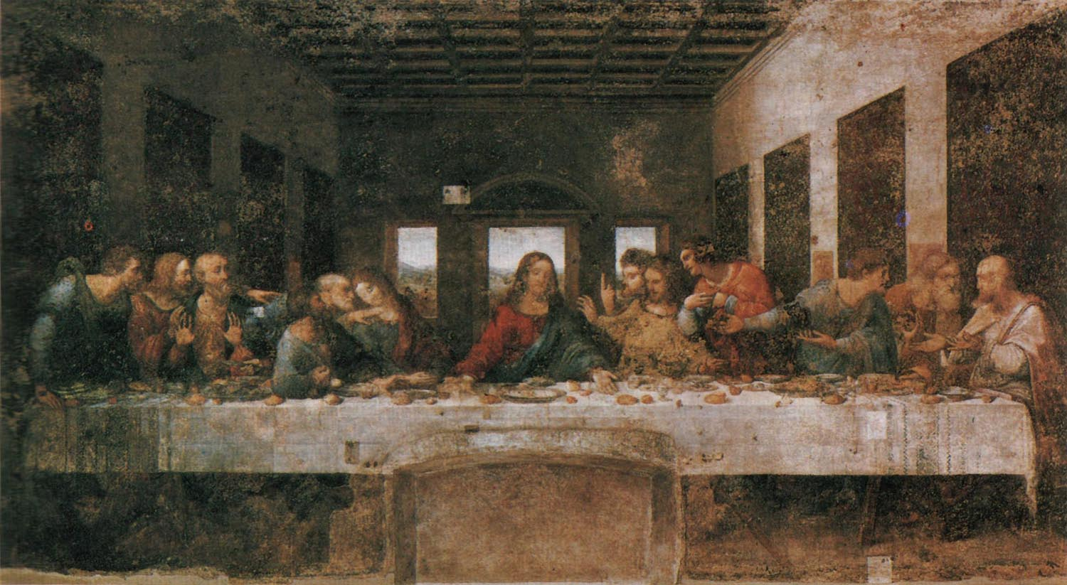 Light and Shadow: The Last Supper Da Vinci Last Supper Restored