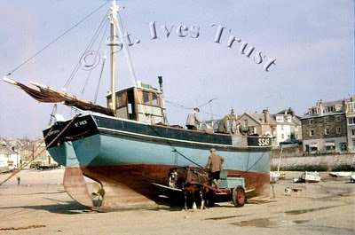 Long Liner Fishing Boat - St Ives Harbour - 1950s