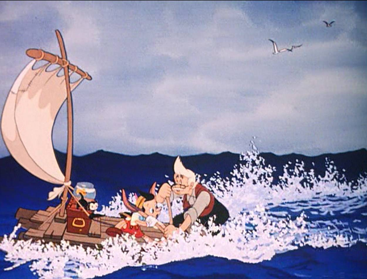 The whale chasing Pinocchio and Geppetto around the ocean is scary, but not  quite the same emotional turmoil as the Pleasure Island bits.