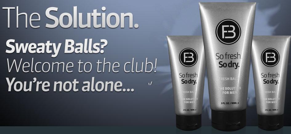 Sweaty balls lotion