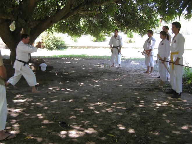 Practica al aire libre en el 4º Encuentro
