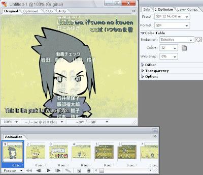 gambar gif animasi anime sasuke