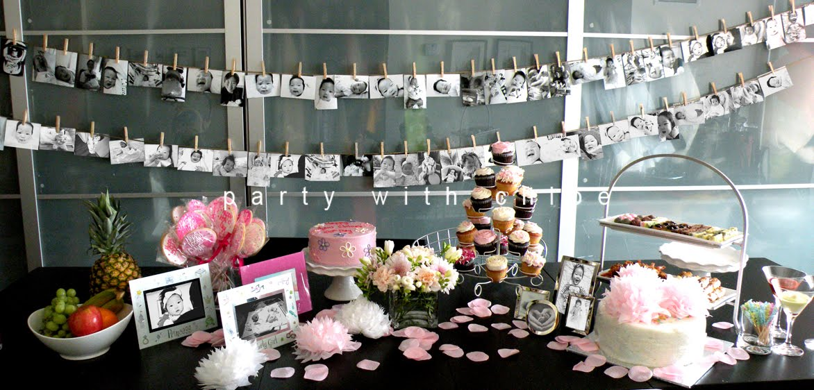 P a r t y w i t h c h l o e ayun chloe moon 100th day party for Table th 100
