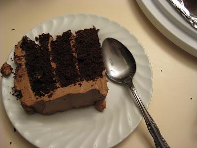... On birthdays, or, Chocolate Coffee Cake with Mocha Mascarpone Frosting