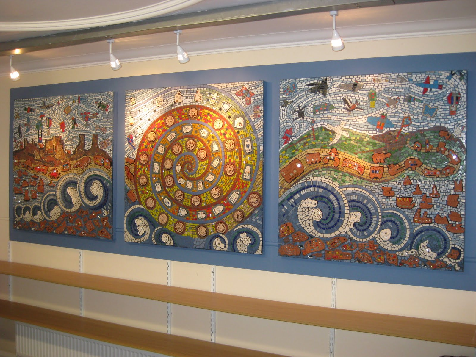 Momosaic mosaic and other art works by maureen o 39 kane for Mural mosaic