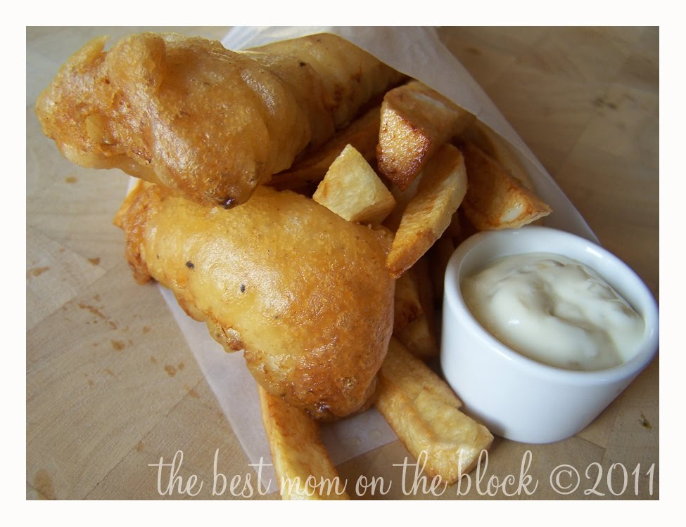 The best mom on the block pub style beer battered fish for Beer battered fish and chips