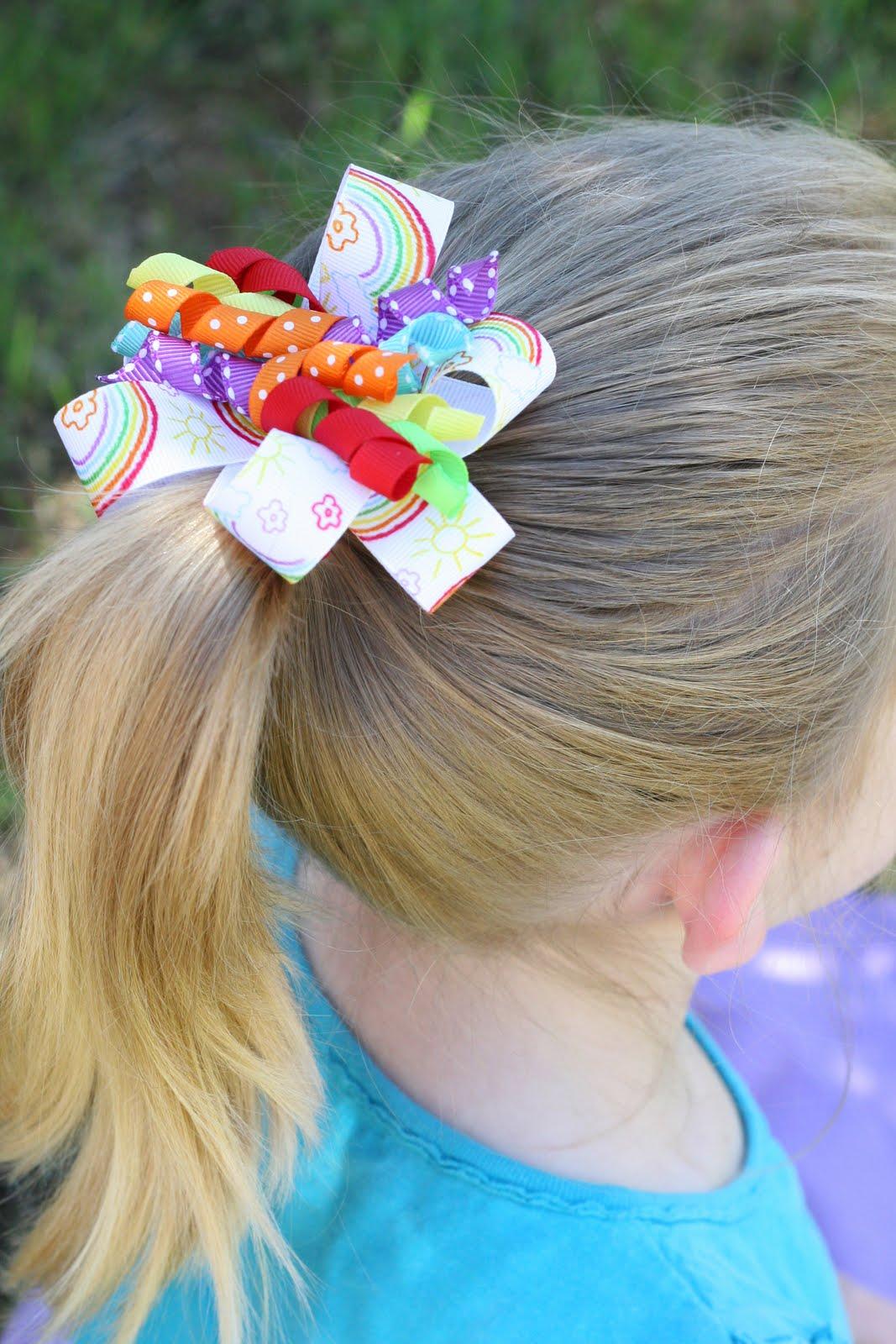 hair bows in curly hair - photo #31