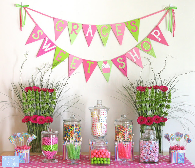 The Candy Buffet Was One Of My Favorite Things To Plan And Set Up Inspired Of Course By The Amazing Work Of Amy Atlas See This Post For The Sources Of