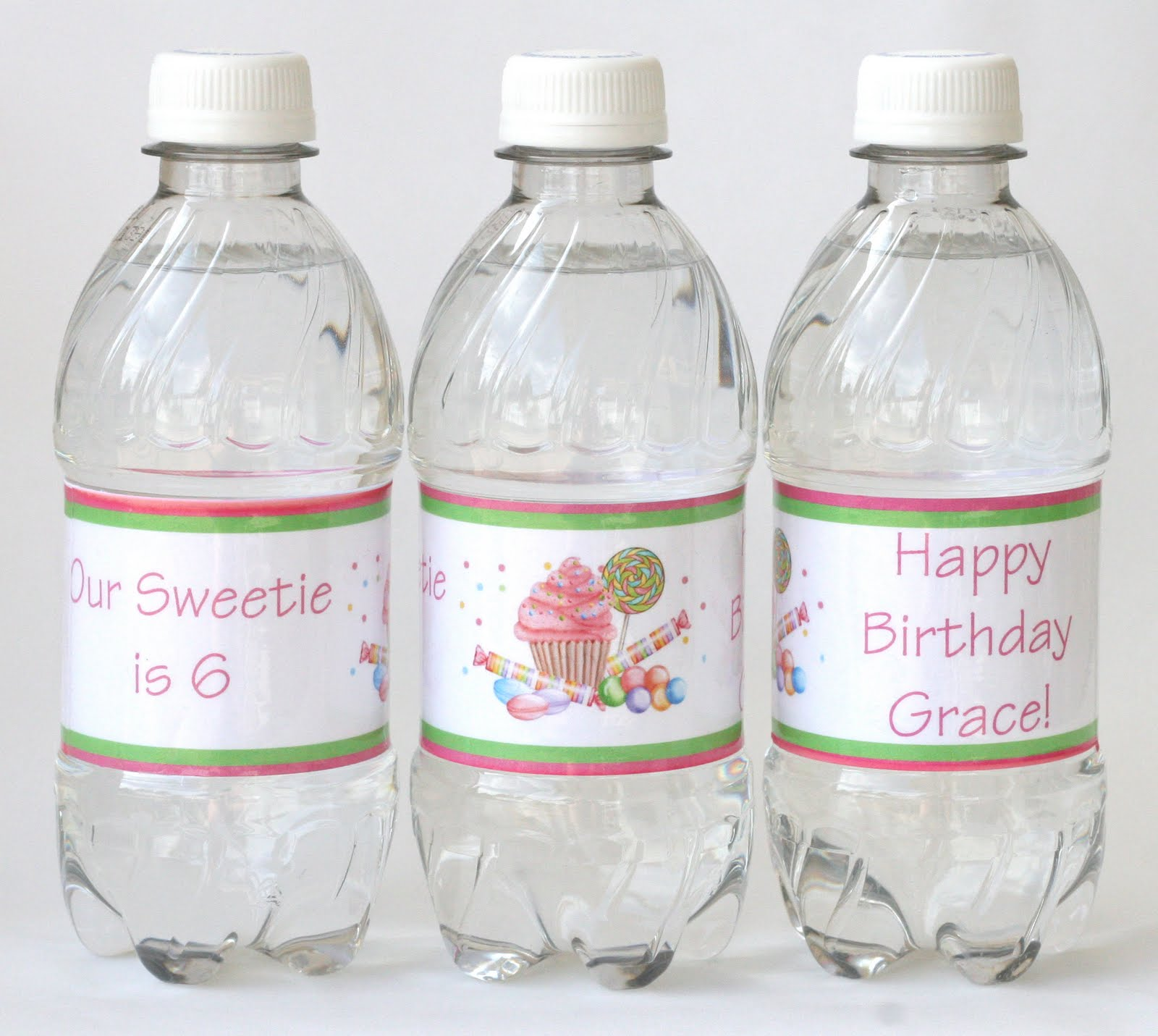 How to make custom water bottle labels glorious treats for How to put labels on water bottles