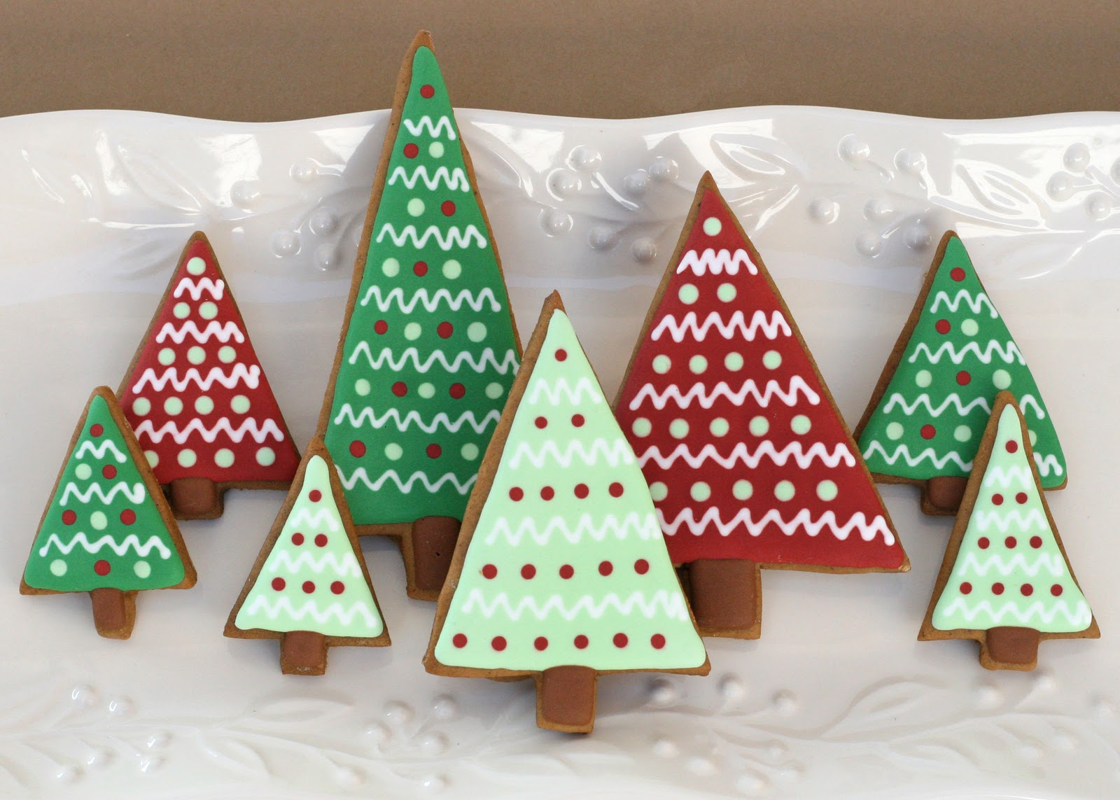 the inspiration for the trees came from some adorable christmas labels i got from littlebeane boutique - Gingerbread Christmas Tree Decorations