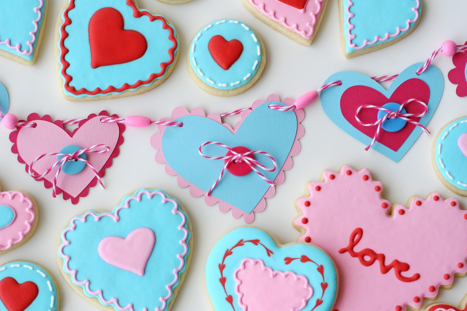 Cute Valentine S Garland And Cookies Glorious Treats