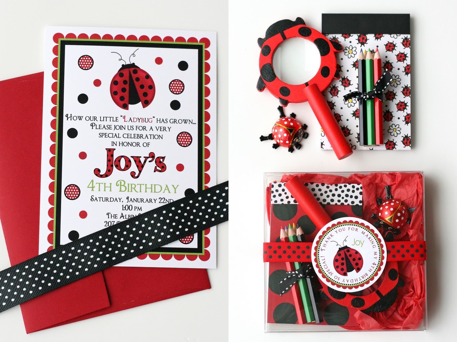 Joy\'s Ladybug Birthday – Glorious Treats