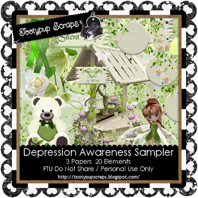 "Scrapbook Freebie ""Awareness"" by tootypupscraps"