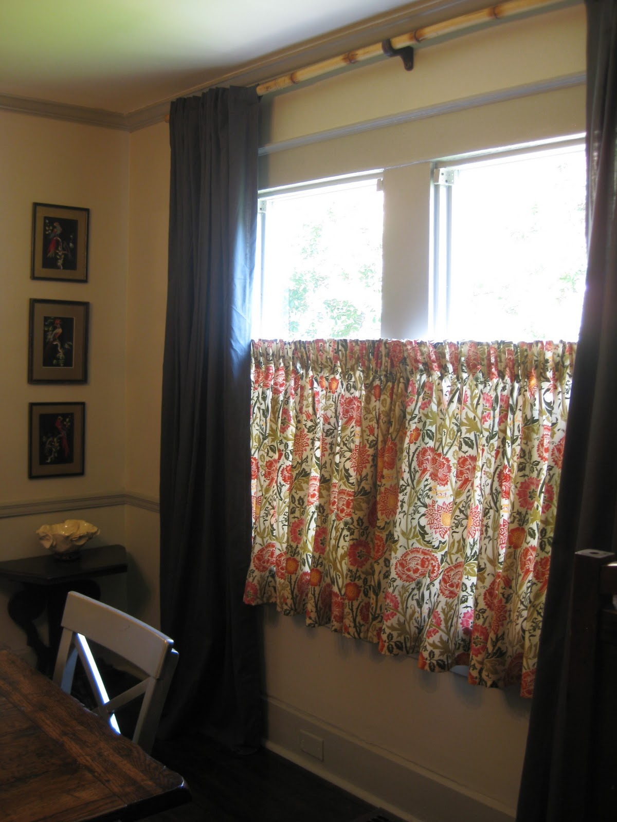 Cafe curtains for living room - Dining Room Revamp