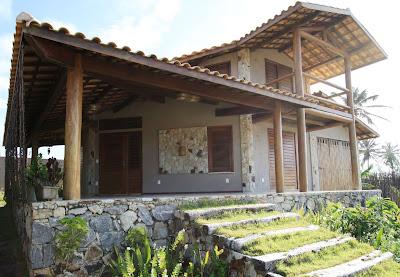 Casa de madeira de eucalipto