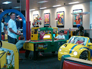 We went to Chuck E Cheese with Drew and Christopher.