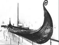 Drakkar barco de guerra de los vikingos