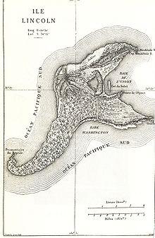 Mapa de la Isla Lincoln.