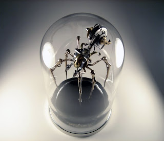 Christopher Conte steampunk spider in glass