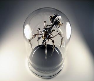 Christopher Conte steampunk spider in glass