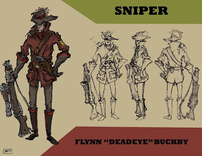 Sniper - steampunk character concept by JPowersDesign