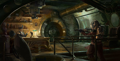 Captain Nemo's Office - steampunk art by Alex Bloeckel
